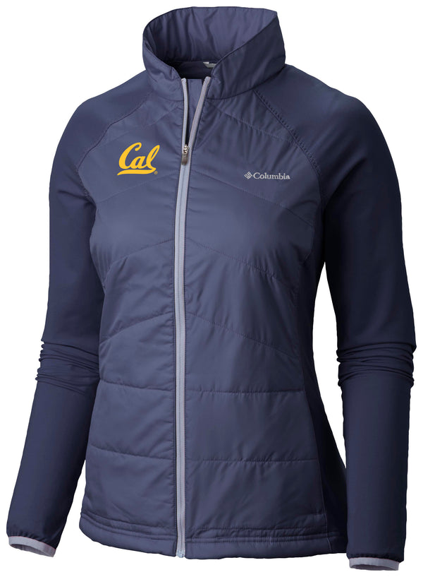University Of California Berkeley Cal Embroidered Columbia Women's Jacket-Navy-Shop College Wear