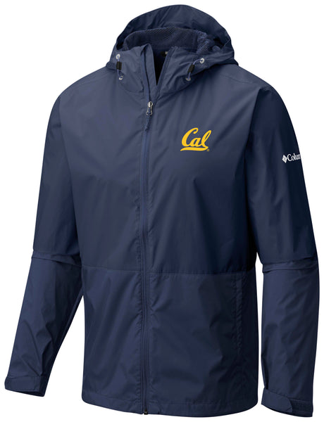 UC Berkeley Cal Waterproof Windbreaker-Navy-Shop College Wear