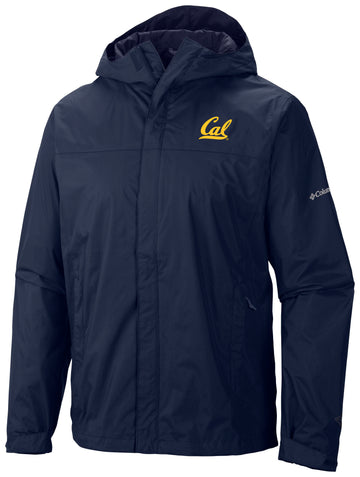UC Berkeley Cal Embroidered Columbia Waterproof Men's Windbreaker-Navy