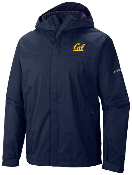 UC Berkeley Cal Embroidered Columbia Waterproof Men's Windbreaker-Navy-Shop College Wear
