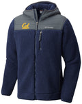 U.C. Berkeley Cal Bears Columbia Heavyweight Mountainside fleece jacket-Navy