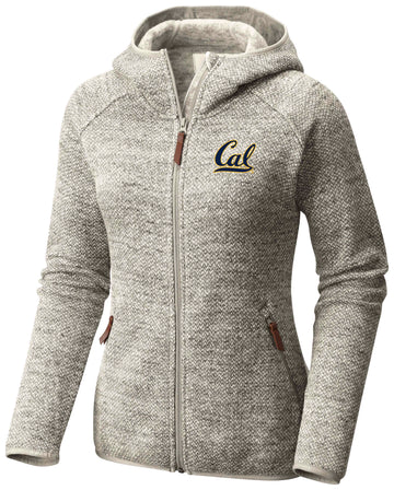 U.C. Berkeley Cal embroidered Columbia Women's Fleece Jacket-Tan