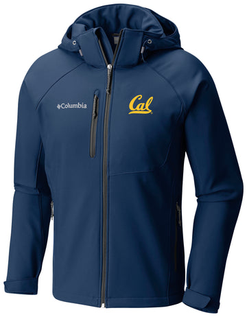 U.C. Berkeley Cal embroidered hooded softshell jacket-Navy