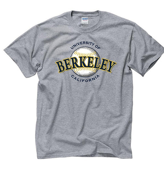 UC Berkeley California Baseball Mens T-Shirt-Grey-Shop College Wear