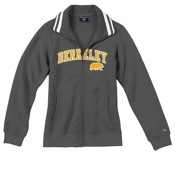 University Of California Berkeley Cal Champion Applique Prep Jacket - Charcoal-Shop College Wear