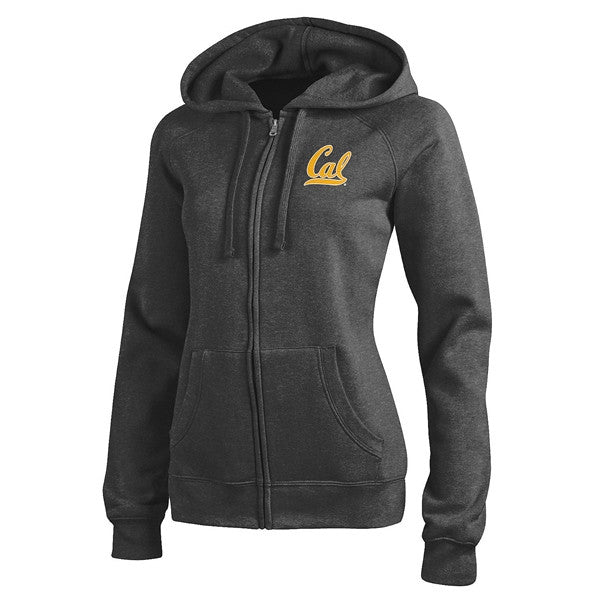 University Of California Berkeley Cal Champion Woman Zip Hoodie - Charcoal-Shop College Wear