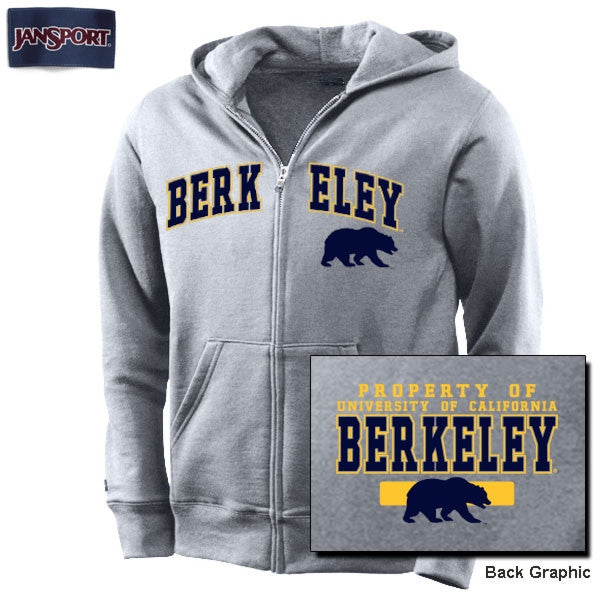 University Of California Berkeley JanSport Youth Zip Up Sweatshirt - Grey-Shop College Wear