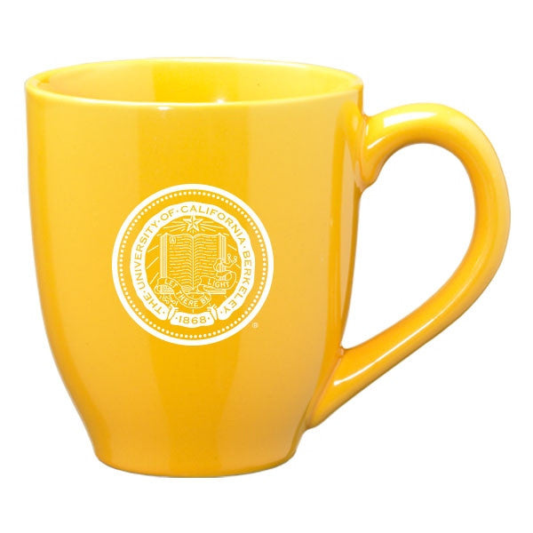 University Of California Berkeley Cal 16oz Laser Engraved Ceramic Mug - Gold-Shop College Wear