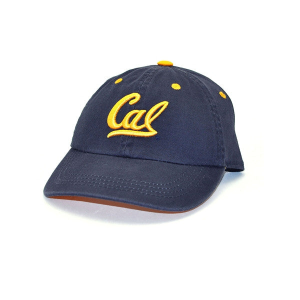 University Of California Berkeley Cal Embroidered Youth Baseball Cap - Navy-Shop College Wear