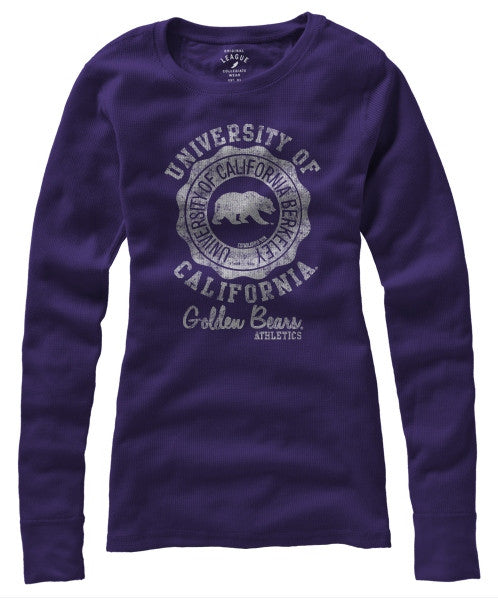 University Of California Berkeley Cal Women Long Sleeve League Thermal - Purple-Shop College Wear