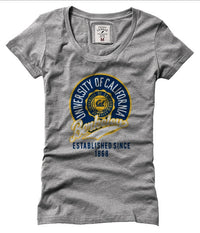 UC Berkeley Cal Women League T- Shirt- Grey-Shop College Wear