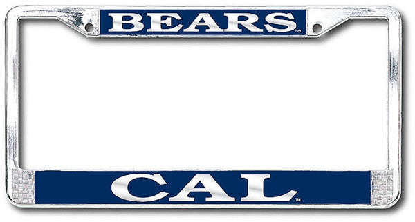 University Of California Berkeley Cal Bears Polished Chrome License Plate Frame-Shop College Wear