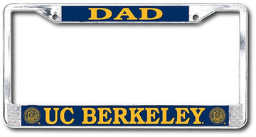 University Of California Berkeley Cal Dad Chrome License Plate Frame-Chrome