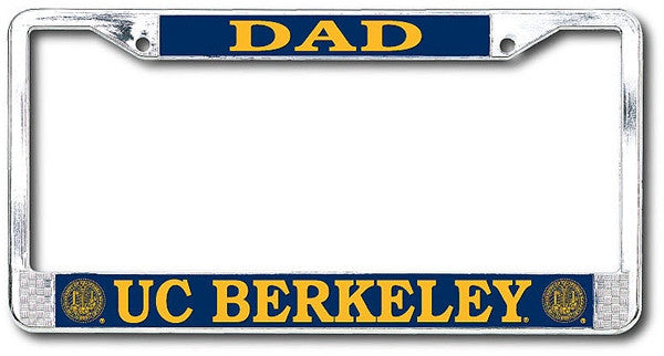 University Of California Berkeley Cal Dad Chrome License Plate Frame-Chrome-Shop College Wear