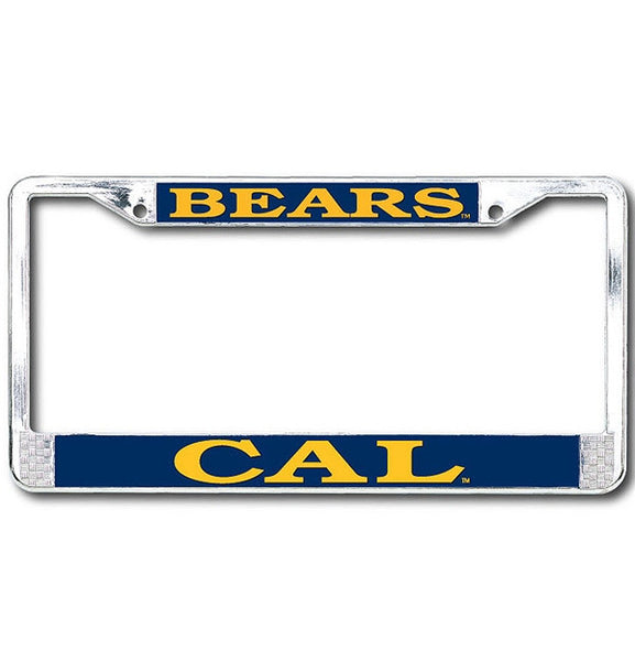University Of California Berkeley CAL BEARS chrome License Plate Frame-Navy-Shop College Wear