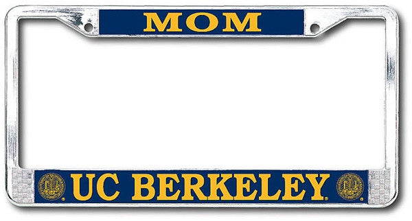 University Of California Berkeley Mom Chrome License Plate Frame-Shop College Wear