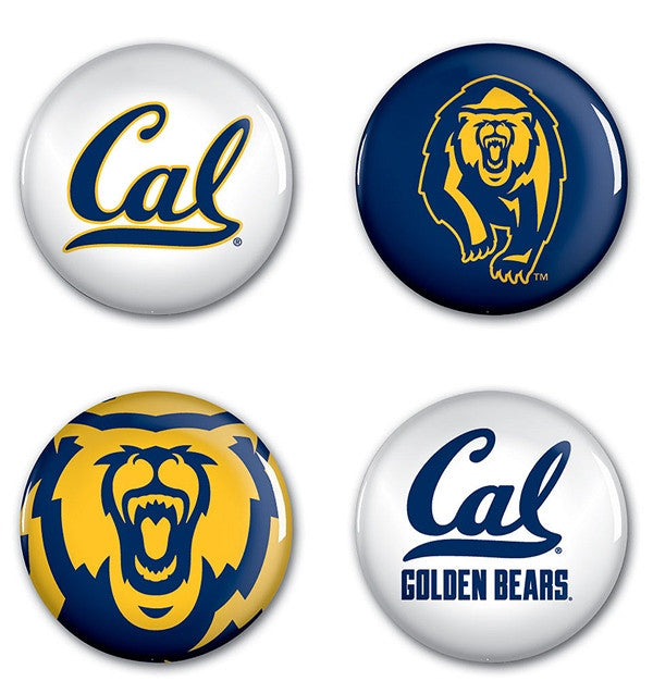 University Of California Berkeley 4 Pack Button- Mixed Colors-Shop College Wear