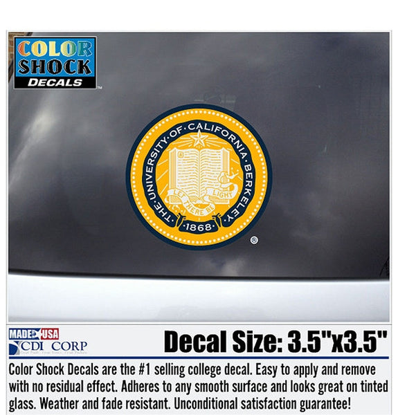 University Of California Berkeley School Seal Decal-Shop College Wear