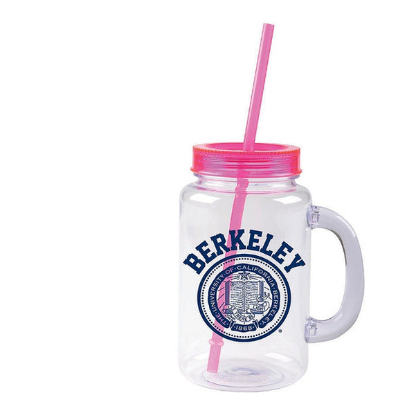 University Of California Berkeley 20 Oz Mason Jar- Clear-Shop College Wear