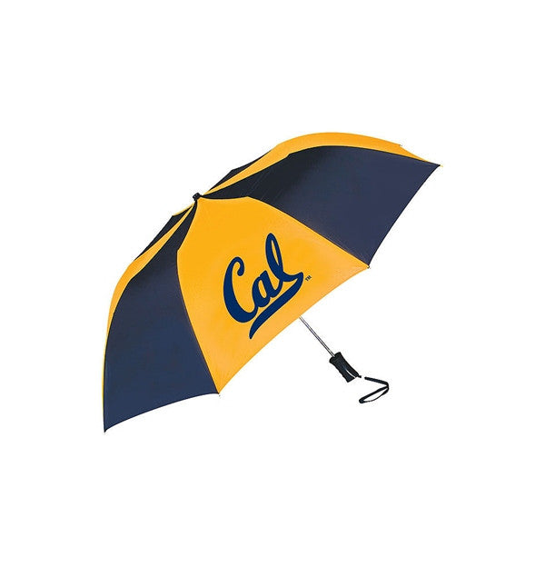 University Of California Berkeley Script Cal Umbrella- Navy Gold-Shop College Wear