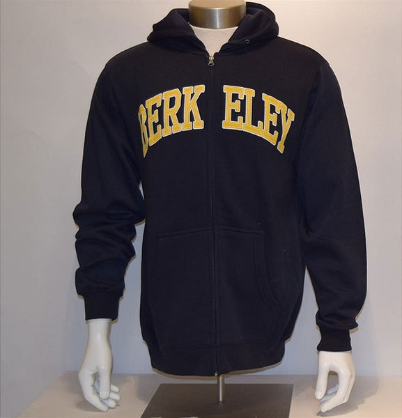 University of California Berkeley Embroidered Twill Sherpa Jacket - Navy-Shop College Wear