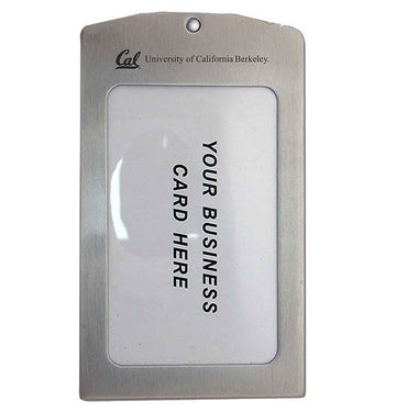 UC Berkeley Cal Laser Engraved Brushed  Stainless Steel Luggage Tag - SILVER