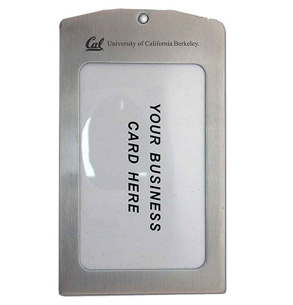 UC Berkeley Cal Laser Engraved Brushed Stainless Steel Luggage Tag - SILVER-Shop College Wear
