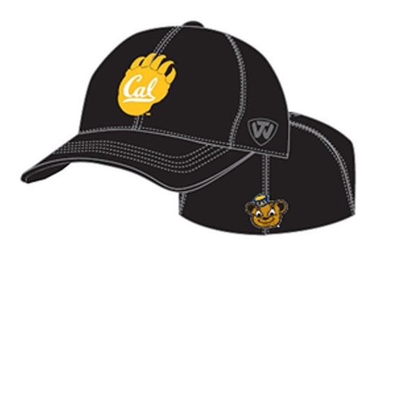 University Of California Berkeley Golden Bears Cal One Fit Ball Cap- Black-Shop College Wear
