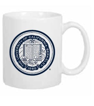 University Of California Berkeley School Seal Coffee Mug 11 Oz- White-Shop College Wear