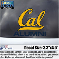 UC Berkeley Cal Alumni Decal-Gold-Shop College Wear