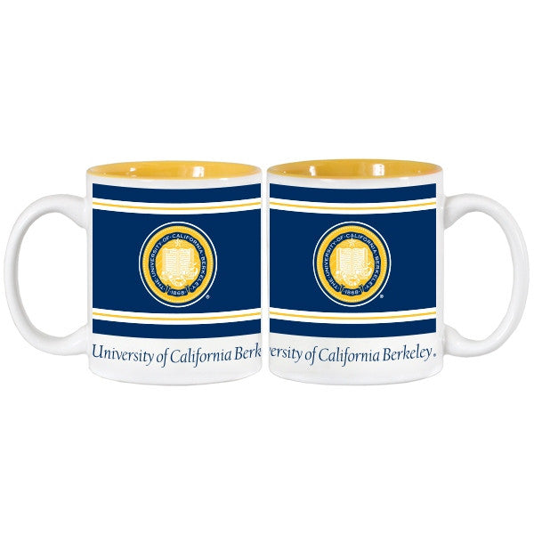 University Of California Berkeley 3 Color School Seal 11 Oz. Coffee Mug - White-Shop College Wear