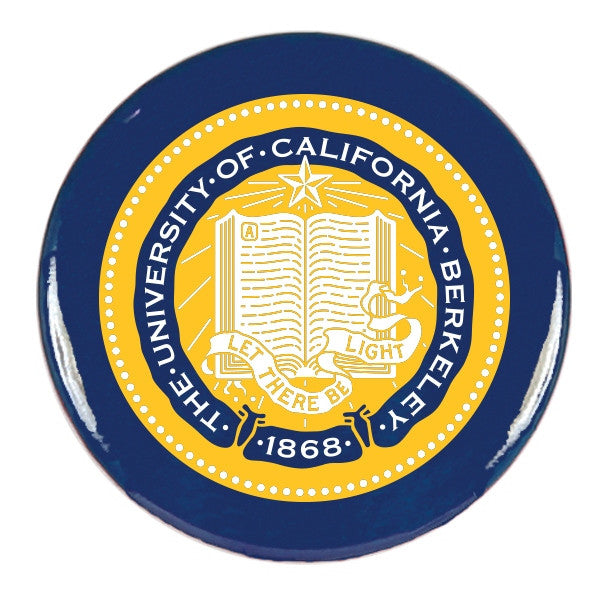 University Of California Berkeley Cal School Seal Round Magnet- Navy-Shop College Wear