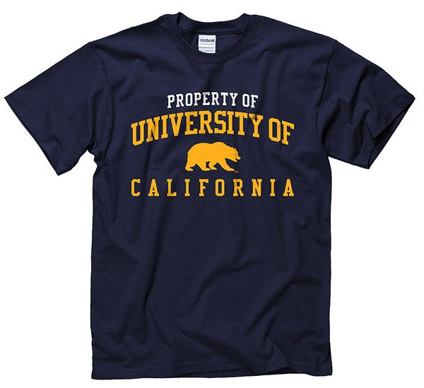 University Of California Berkeley Mens T- Shirt - Navy-Shop College Wear