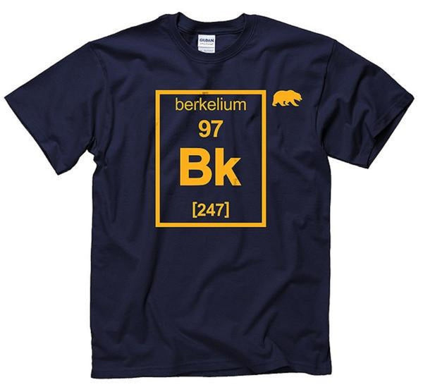 University Of California Berkeley Berkelium Men's T-Shirt - Navy-Shop College Wear