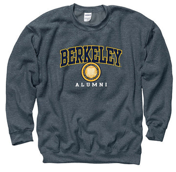 University Of California Berkeley Alumni Mens Crew Sweatshirt- Charcoal