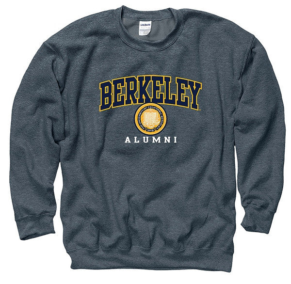 University Of California Berkeley Alumni Mens Crew Sweatshirt- Charcoal-Shop College Wear