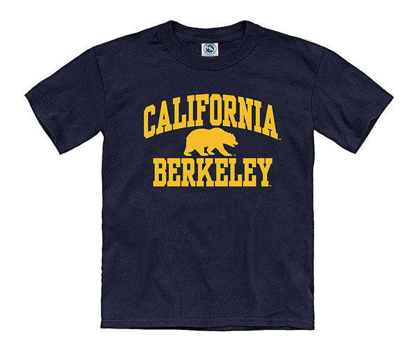 University Of California Berkeley Bold Arch Youth T- Shirt- Navy-Shop College Wear
