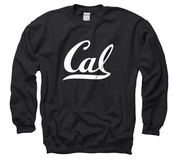 University Of California Golden Bears Cal Crew Neck Men's Sweatshirt- Black-Shop College Wear