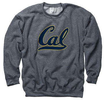 University Of California Berkeley Golden Bears Crew Neck Men's Sweatshirt- Charcoal