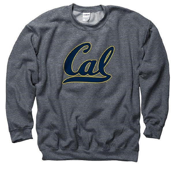 University Of California Berkeley Golden Bears Crew Neck Men's Sweatshirt- Charcoal-Shop College Wear