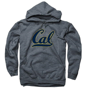 University Of California Berkeley Golden Bears Script Cal Hooded Mens Sweatshirt- Charcoal