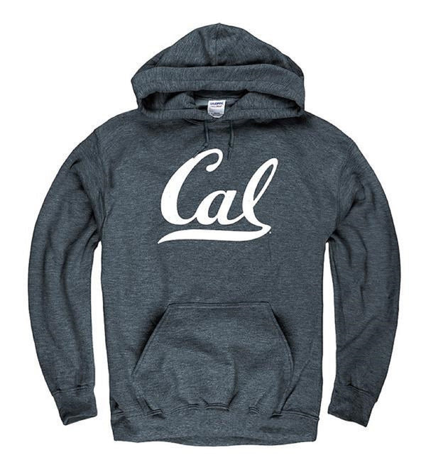 University Of California Golden Bears Cal Hooded Mens Sweatshirt- Charcoal-Shop College Wear