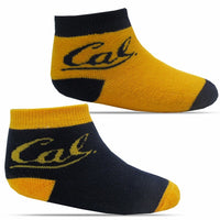 University Of California Berkeley Cal Infant Socks Two Pack - Gold/Navy-Shop College Wear