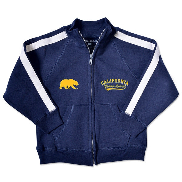 University Of California Berkeley Golden Bears Toddler Track Jacket- Navy-Shop College Wear