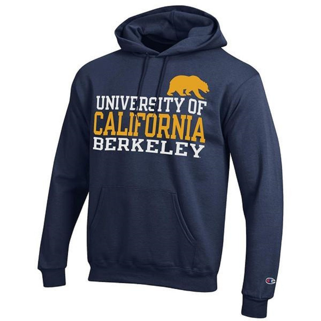 University Of California Berkeley Champion Men's Three Stacks Sweatshirt- Navy-Shop College Wear