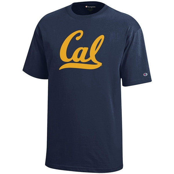 University Of California Berkeley Script Cal Champion Youth T-Shirt - Navy-Shop College Wear