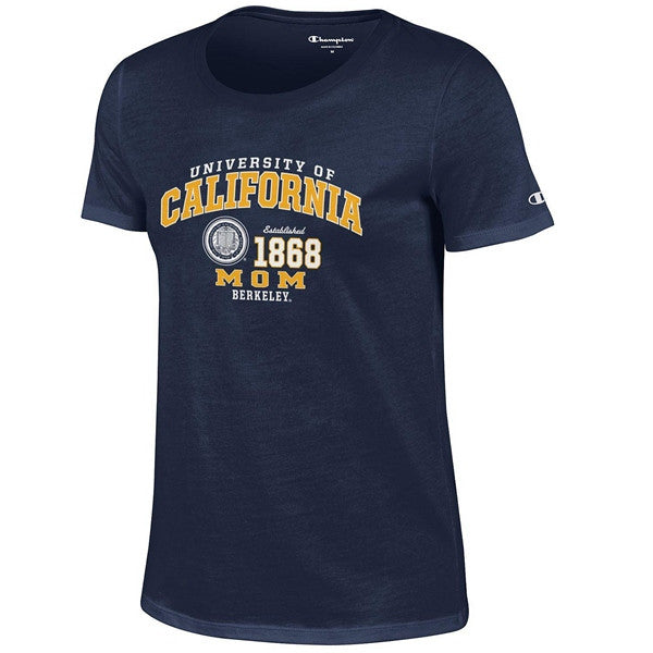 University Of California Berkeley Cal Mom Champion T-Shirt - Navy-Shop College Wear