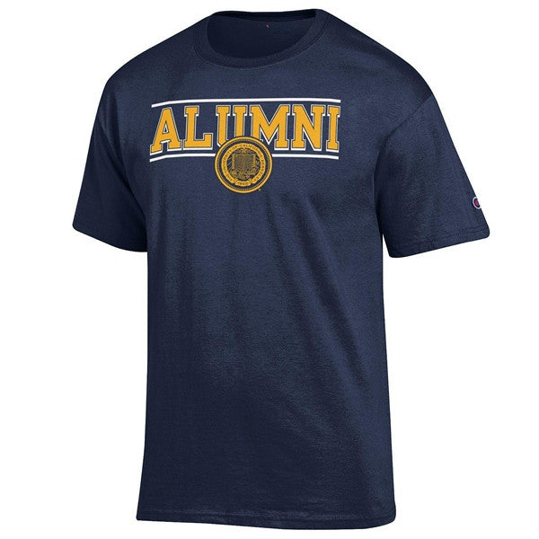 University Of California Berkeley Cal Alumni Champion Men's T- Shirt - Navy-Shop College Wear