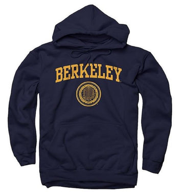 University Of California Berkeley Arch And Seal Men's Hoodie - Navy
