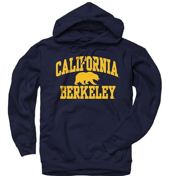 University Of California Berkeley Golden Bears Bold Arch Men's Hoodie - Navy-Shop College Wear